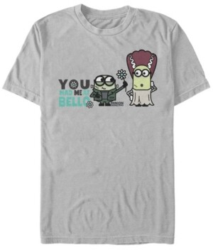Fifth Sun Despicable Me Men's Minions You Had Me At Bello Halloween Short Sleeve T-Shirt