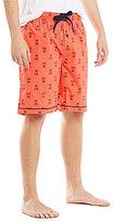 Psycho Bunny Woven Logo Pattern Pajama Shorts