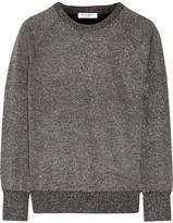 Equipment Sloane Metallic Wool-blend Sweater - Dark gray
