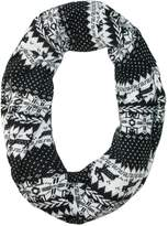 David & Young CTM® Women's Holiday Nordic Pattern Infinity Loop Scarf