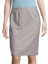 BOSS Vileana Windowpane Pencil Skirt
