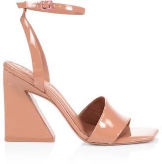 Mercedes Castillo Serafina Square-Toe Patent Leather Sandals