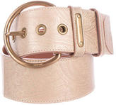 Prada Paisley Leather Wide Belt