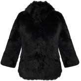Diane von Furstenberg Noelle Black Fur Jacket