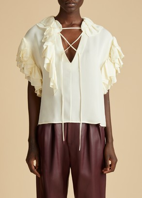 KHAITE The Dee Top in Ivory