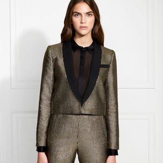 Rachel Zoe Cher Metallic Stripe Suiting Blazer