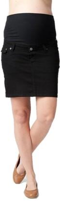 Ripe Maternity Women's Maternity Lite Denim Short Skirt