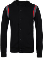 Hugo Dolingo Black Striped Trim Hooded Sweatshirt