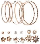 Charlotte Russe Embellished Hoop & Stud Earrings - 9 Pack