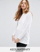 Asos Long Sleeve Top in Linen Mix