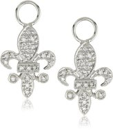 "KC Designs Charmed Life"" Diamond 14k White Gold Fleur-De-Lis Ear Charm"