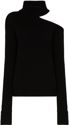 Paige Raundi cold-shoulder turtleneck sweater
