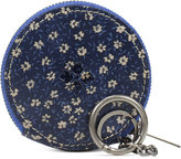 Patricia Nash Denim Fields Mini Scafati Key Chain Pouch