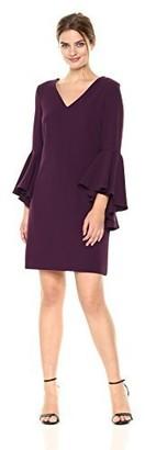 Brinker & Eliza Women's V-Neck Shift Dress with Bell Sleeves
