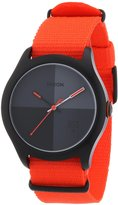 Nixon Men's Quad A3441178 Cloth Quartz Watch