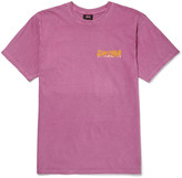 Stüssy - Slim-fit Printed Cotton-jersey T-shirt