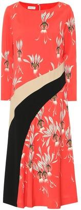 Dries Van Noten Printed crepe midi dress