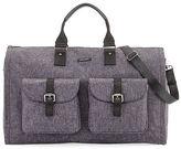 hook + ALBERT Melange Carry-On Garment Weekender Bag