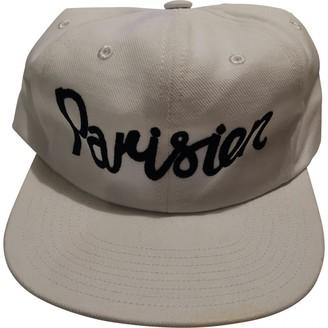 MAISON KITSUNÉ White Cotton Hats & pull on hats