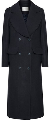 Gestuz Lilot Wool-Blend Double-Breasted Coat