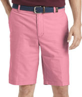 Izod Oxford Flat-Front Cotton Shorts