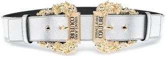 Versace Jeans Couture Baroque Double Buckle Belt