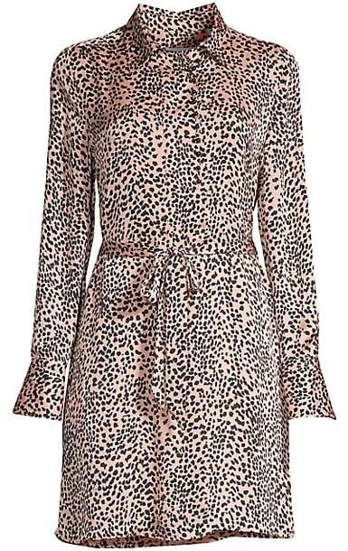 Equipment Temera Leopard-Print Shirtdress
