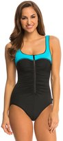 Reebok Fitness Zip Tide UBack One Piece - 8121910