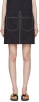 Chloé Navy Double-pocket Miniskirt