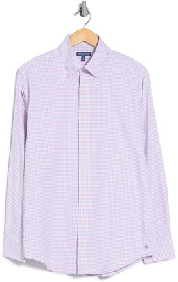 Peter Millar Armstrong Check Perf Oxford Shirt