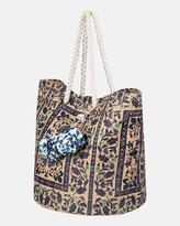 Roxy Sun Seeker Straw Tote Beach Bag