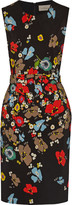 Preen by Thornton Bregazzi Issy belted floral-print crepe dress