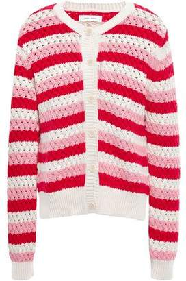 Chinti and Parker Chinti & Parker Striped Crochet-knit Cotton Cardigan