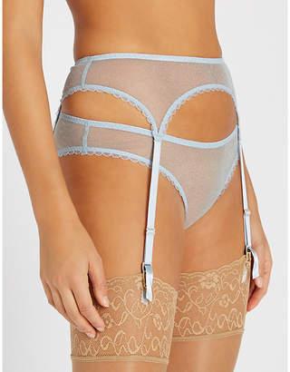 Myla Verity Close metallic mesh suspenders