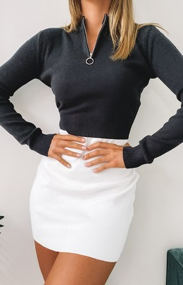 Beginning Boutique Hotline Long Sleeve Knit Top Black