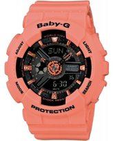 Casio Women's Baby-G BA111-4A2 Coral Rubber Quartz Watch