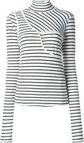 MM6 MAISON MARGIELA turtleneck striped T-shirt