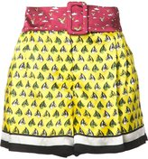 Mary Katrantzou horse print shorts - women - Viscose/Silk - 12
