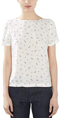 Esprit edc by Women's 027cc1f019 Blouse, White, (Size: Medium)