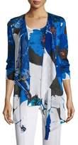 Berek Floral Lapis of Luxury Cardigan, Plus Size