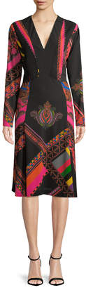Etro Tapestry Print A-Line Dress