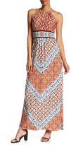 London Times Printed Chevron Maxi Dress