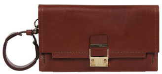Lanvin Brown Leather Clutch