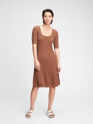 Gap Fit & Flare Sweater Dress