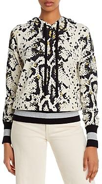 Aqua Snakeskin Print Hooded Sweater - 100% Exclusive