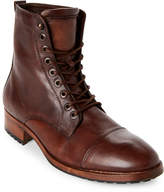 Steve Madden Brown Ted Cap Toe Combat Boots