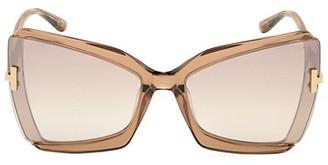 Tom Ford Gia 63MM Oversized Cat Eye Sunglasses