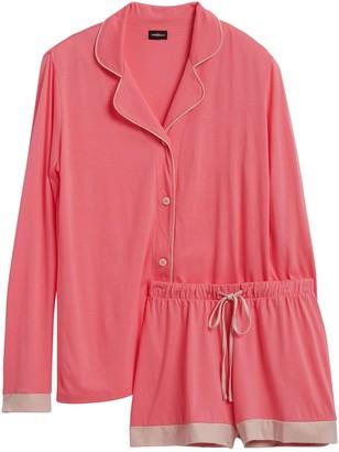 Cosabella | Bella Long-Sleeve Top & Boxer Pajama Set