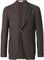Boglioli waffle single breasted jacket - men - Cotton/Cupro - 46