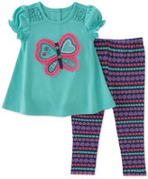 Kids Headquarters 2-Pc. Butterfly Tunic & Leggings Set, Baby Girls (0-24 months)